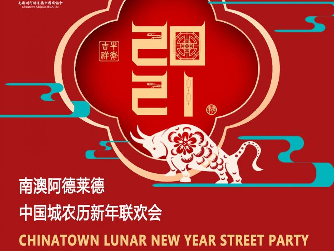 Lunar new year street party poster
